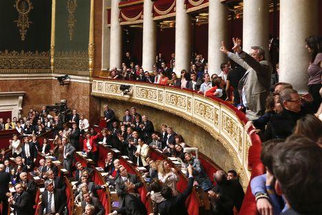 Рассмотрение законопроекта легализации однополых браков во французском парламенте, 23 апреля 2013 года