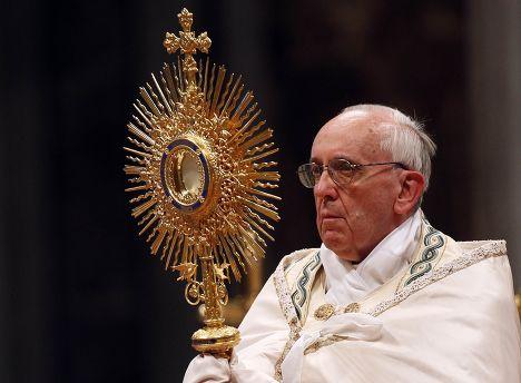 Франциск I во время месссы