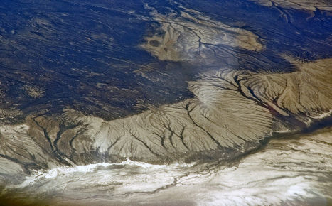 Вид Аралського моря, Казахстан