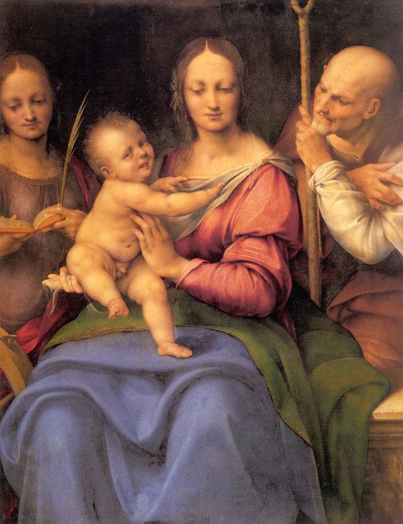 Чезаре да Сесто. Святое семейство со св. Екатериной.
