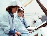 Первая женщина-астронавт США Салли Райд в Космическом центре Кеннеди, 1978 год