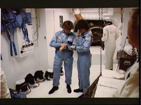 Первая женщина-астронавт США Салли Райд и астронавт Кэтрин Салливан