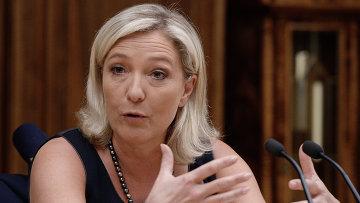 Французский политик Мари Ле Пен