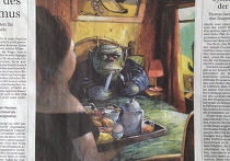 Иллюстрация Эрнста Каля в газете Sueddeutsche Zeitung