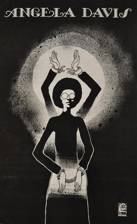 Плакат с изображением Анджелы Дэвис