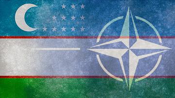 Флаги Узбекистана и НАТО