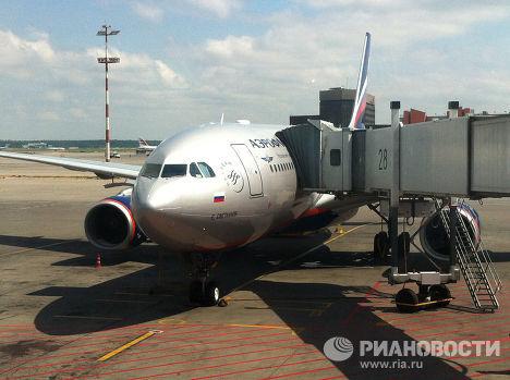 Самолет, выполняющий рейс из Москвы в Гавану