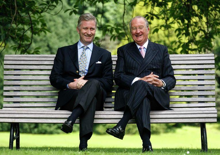 Бельгийский наследный принц Филипп и его отец король Альберт
