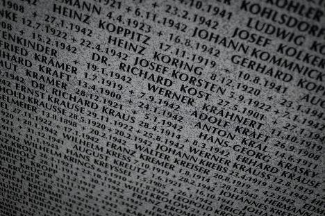 Памятная плита на кладбище для военнослужащих Вермахта на территории Смоленской области у города Духовщина