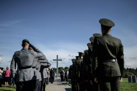 Открытие немецкого военного кладбища в Смоленской области