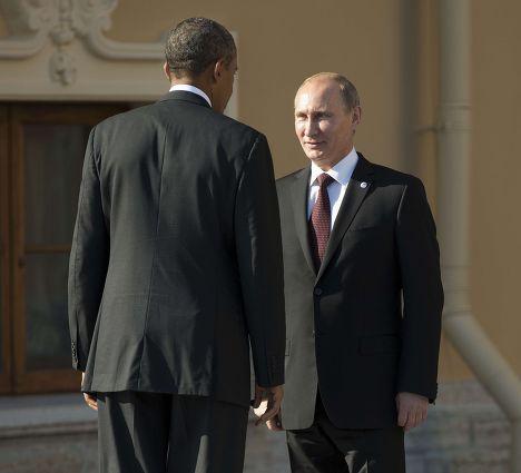 Владимир Путин встречает Барака Обаму на саммите «Группы двадцати»