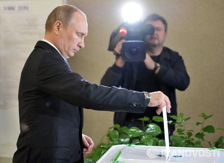 Голосование Владимира Путина на выборах мэра Москвы