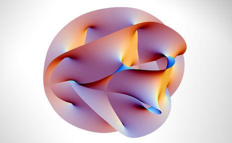Проекция 6-мерного пространства Калаби — Яу, полученная с помощью Mathematica