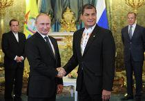Переговоры Владимира Путина с Рафаэлем Корреа в Кремле