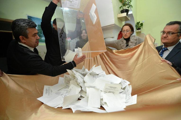 Подсчет голосов на выборах президента Таджикистана