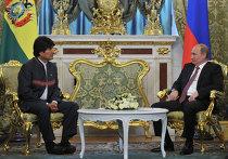 Встреча президента РФ Владимира Путина с Эво Моралесом Аймой