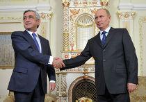 Встреча В.Путина и С.Саргсяна, архивное фото
