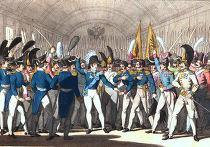 Николай I сообщает гвардии о восстании в Польше