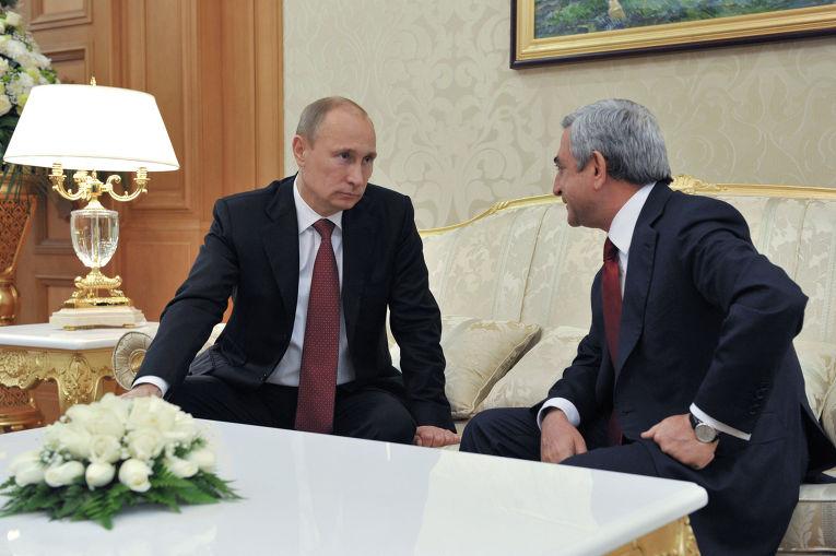 Владимир Путин и Серж Саргсян, архивное фото