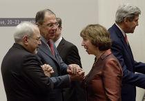 Глава МИД Ирана Мохаммад Джавад Зариф, министр иностранных дел РФ Сергей Лавров, представитель ЕС по иностранным делам и политике безопасности Кэтрин Эштон