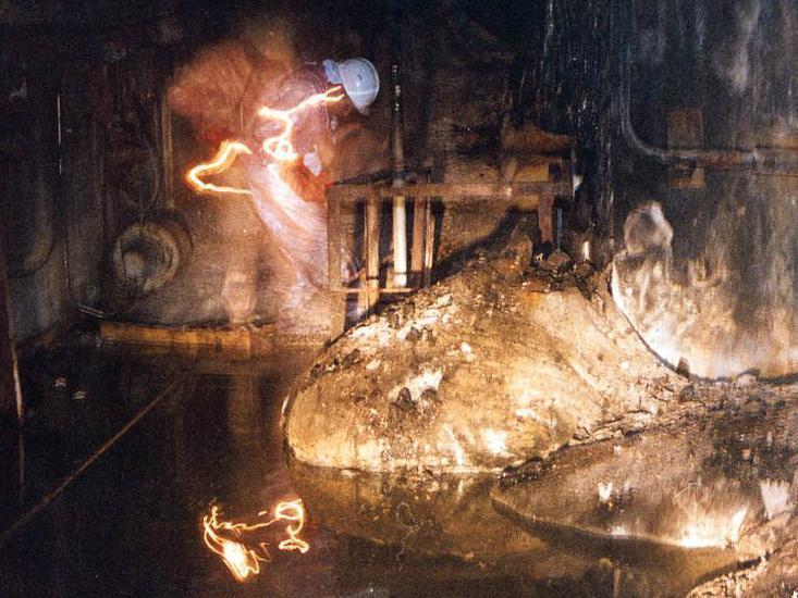 «Слоновья нога» в Чернобыльском ядерном реакторе