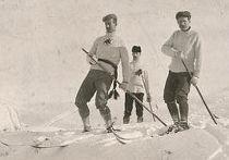Канадские лыжники в Оттаве, 1887 год