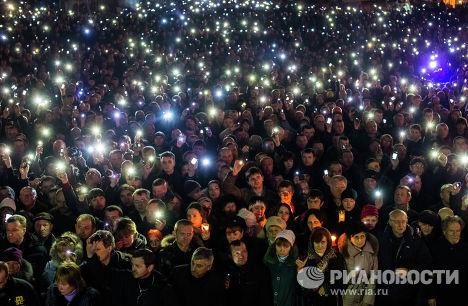 На площади Независимости на траурном мероприятии в память о погибших во время антиправительственной акции протеста
