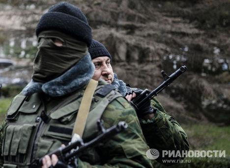 Присяга добровольцев на верность народу Крыма в Симферополе
