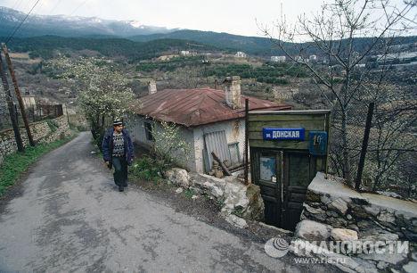 Город Ялта на черноморском побережье Крымского полуострова