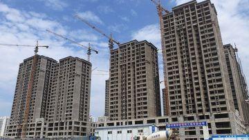 Строительство жилых домов в городе Рижао, Китай