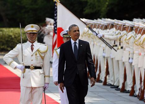 Барак Обама во время визита в Японию