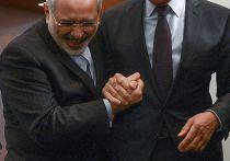 Сергей Лавров и Мухаммед Джавад Зариф после пресс-конференции по итогам конференции министров иностранных дел прикаспийских государств