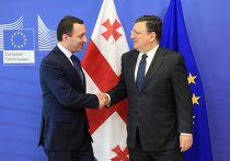 Премьер-министр Грузии Ираклий Гарибашвили и председатель Еврокомиссии Жозе Мануэл Баррозу