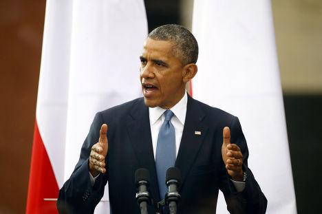 Барак Обама во время своего визита в Варшаву