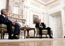 Встреча Владимира Путина с Сержем Саргсяном в Ново-Огарево