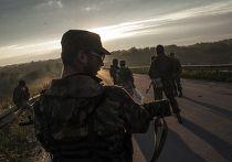 Ополченцы передают тела пассажиров самолета ВВС Украины украинским военным