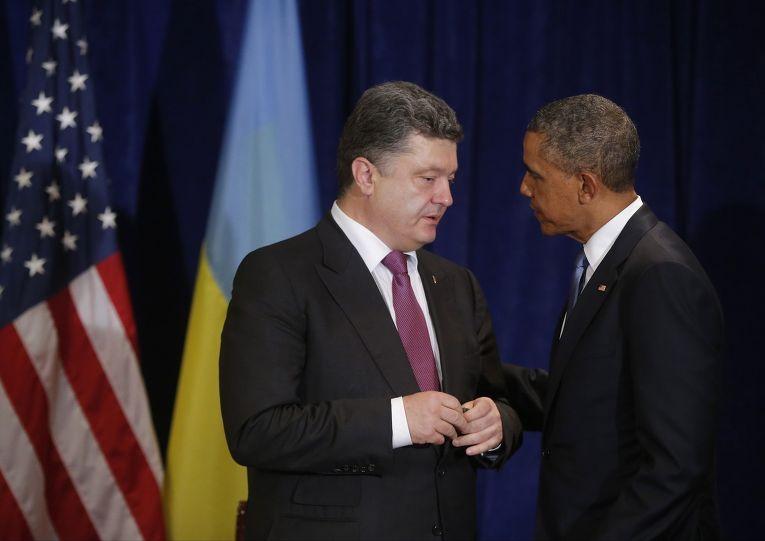 Барак Обама и Петр Порошенко во время встречи в Варшаве