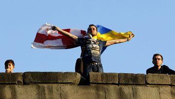 Празднование подписания соглашения с ЕС в Тбилиси