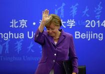Канцлер Германии Ангела Меркель во время своего визита в Китай