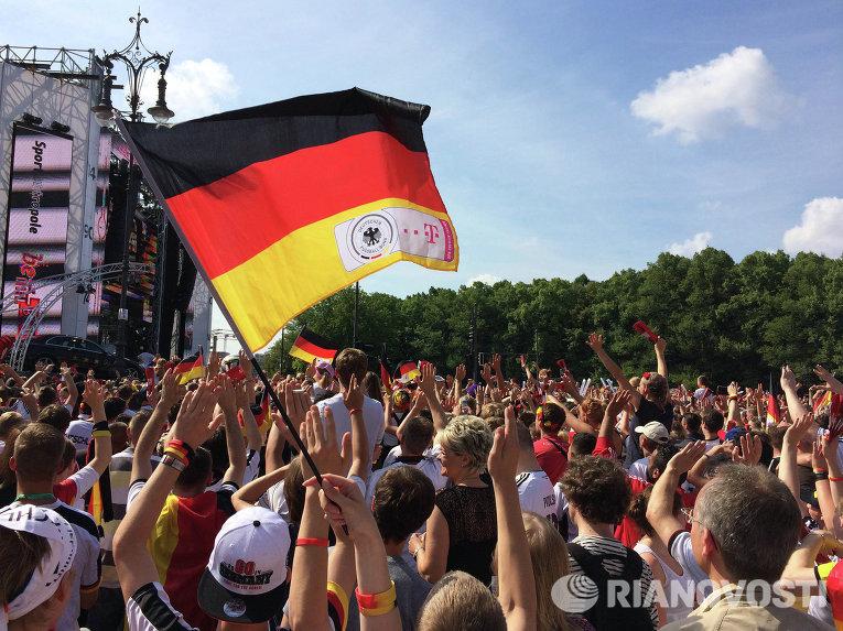 Встреча игроков сборной Германии по футболу в Берлине