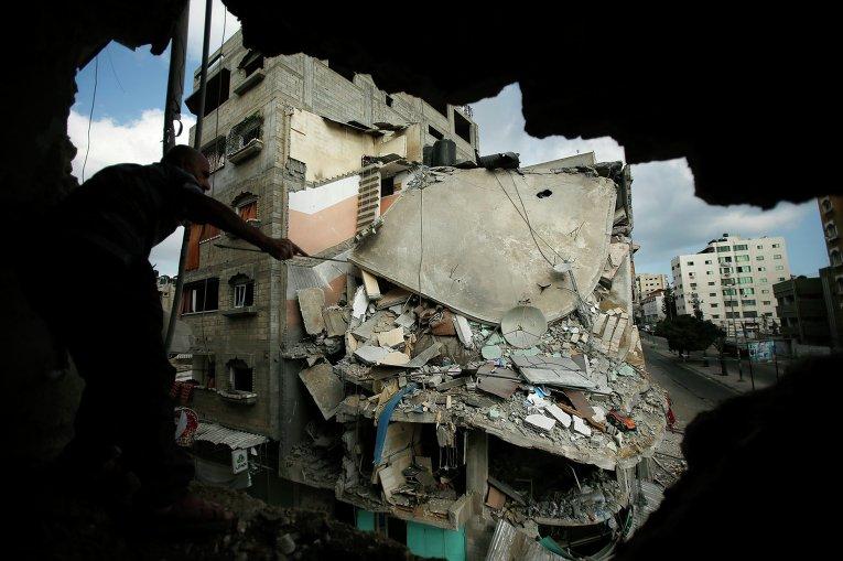 Разрушения в Секторе Газа в результате израильской военной операции, 19 июля 2014
