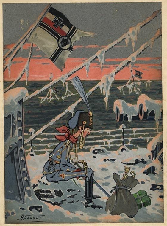 А. Панин «На замерзшем корабле», 1914