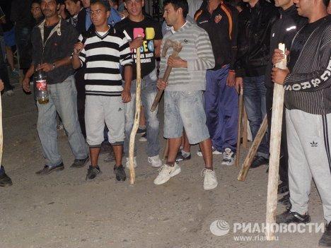 Вооруженные цыгане в Благоевграде