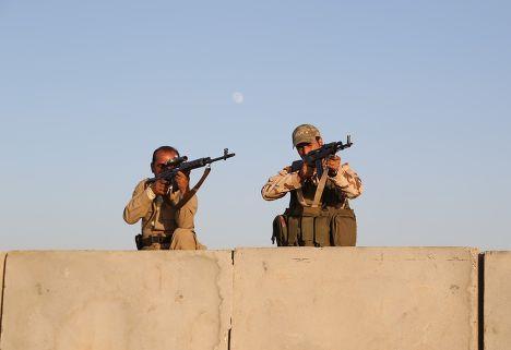 Бойцы курдских вооруженных формирований «пешмерга»