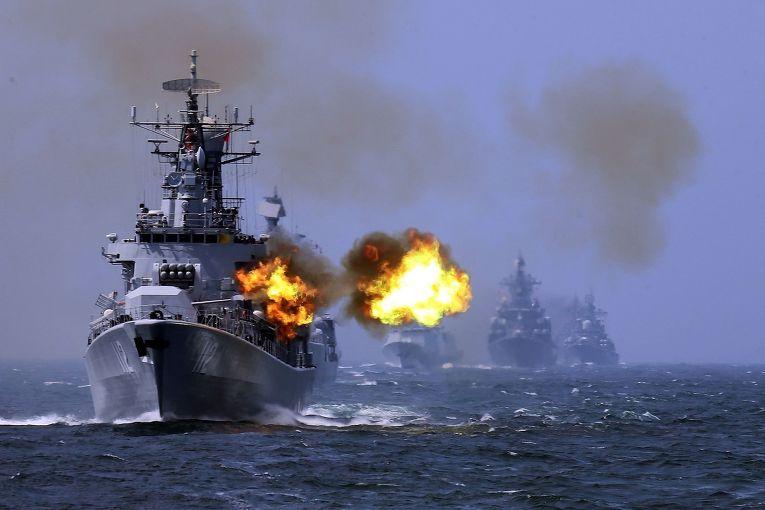 Китайский корабль «Харбин» на российско-китайских учениях Joint Sea-2014