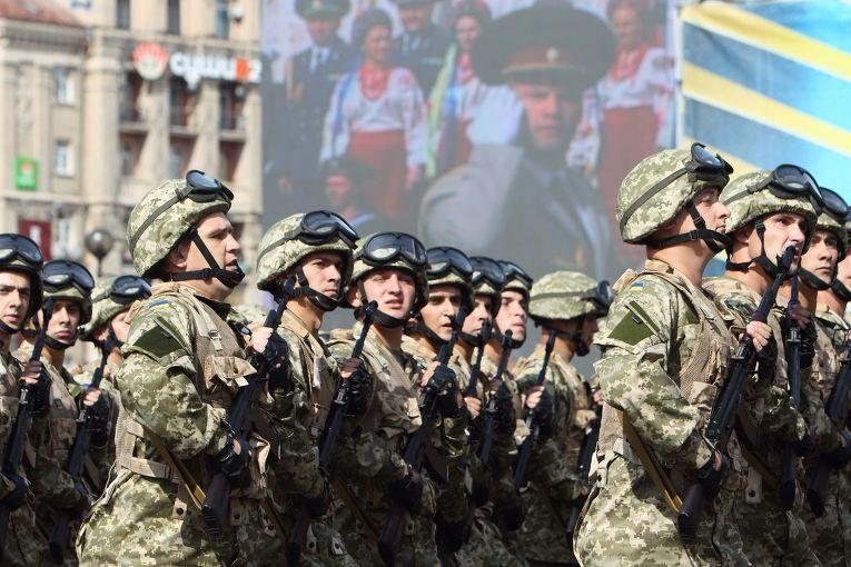Парад в центре Киева в честь Дня независимости Украины