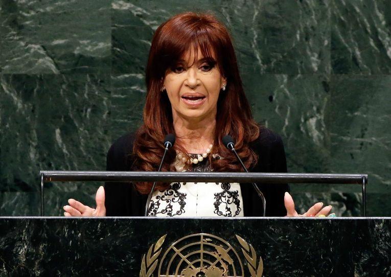 Президент Аргентины Кристина Киршнер выступает на 69-й сессии Генеральной ассамблеи ООН