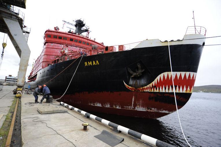 Прибытие атомного ледокола «Ямал» в Мурманск