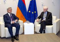Президент Армении Серж Саргсян и председатель Европейского совета Херман Ван Ромпей