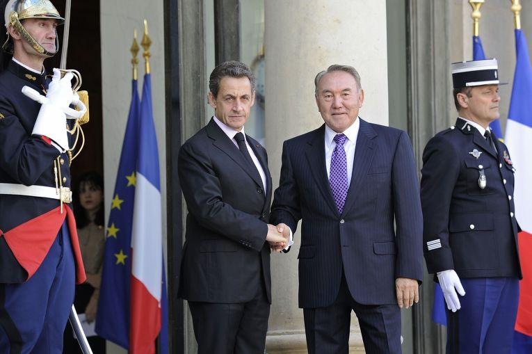 Встреча президента Казахстана Нурсултана Назарбаева с президентом Франции Николя Саркози, 2011 год